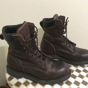 BROWN RED WING STEEL TOE BOOTS 9 D